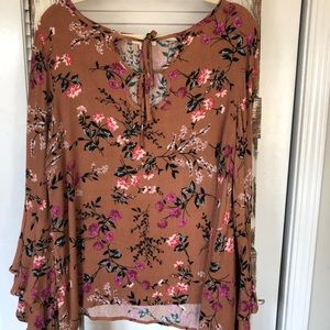 Floral long sleeve fall stylish top